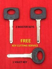 KEYS SET OF 3 FOR MERCEDES BENZ - 2 MASTER HU41-P & 1 VALET HU44A-P