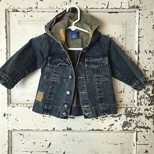 Naartjie Infant Denim Jacket With Camo Hood Size 3-6months