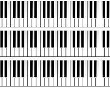 Piano Keys Edible Image Design Strips Frosting Sheet