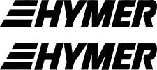 2 x HYMER MOTORHOME CAMPER STICKERS DECALS ANY COLOUR OR SIZE