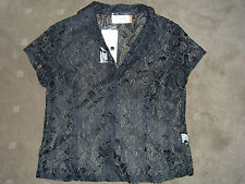 NEW - BLACK LACEY SHIRT TOP OR JACKET OVER A DRESS  - SZ 8 - RRP $39.95