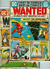 Wanted The World's Most Dangerous Villains #1-9 - 1972