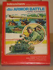 Armor Battle Game for Intellivision I II Mattel overlays instructions & Box