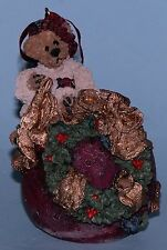 "Boyds Bears ornament ""Edmund Deck Halls"" #25700 wreath1996 NIB Retired Christmas"