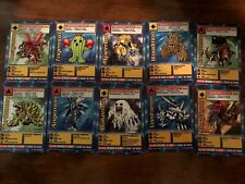 Original Digimon Card Lot of 10 Cards - 1999 - 2000 Bandai - Some Holos!