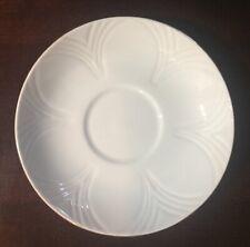 Crown Staffordshire, England--Fine Bone China--Est 1801--White Saucer