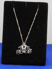 Belk Silverworks DISNEY Sterling Silver10k Gold Princess Carriage Necklace $225
