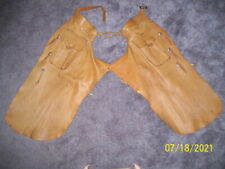 New listing Vintage Thick Smooth Leather Batwing Cowboy Ranch Chaps – Western Tack