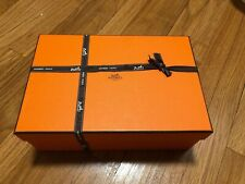 Large Hermes Empty Box 12�x 8� x 4.5� New With Ribbon Men Women Gift