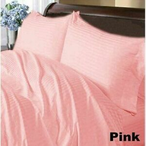 Box Pleat Bed Skirt California King Select Drop Length All Stripe Color 1000TC