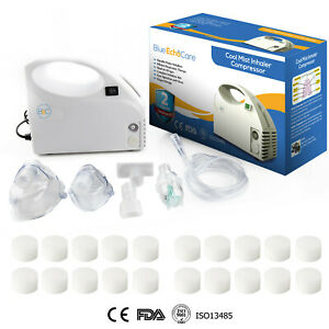 Compact Nebulize Compressor 20 Filters, Carrying Case, All Accessories Included!