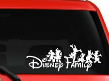 """Disney family Mickey and friends car truck SUV decal sticker 8"""" White"""