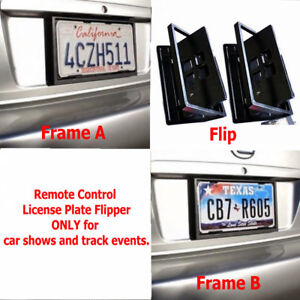 Mexico Remote Control Retractable Hide Hidden Flip License Plate Flipper Stealth