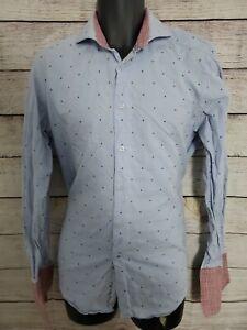 ROBERT GRAHAM Pink casual Stripped shirt 16 x 41 French Cuff Plaid - SZ M/L (A1)
