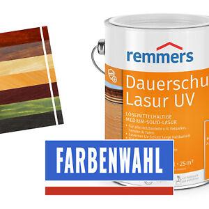 Remmers Dauershutz-Lasur Langzeit-Lasur UV 2,5 L Holzschutz - alle Farben