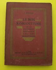 Le bon Romantisme - sentiment religieux chez les romantiques - V. Hostachy  1930