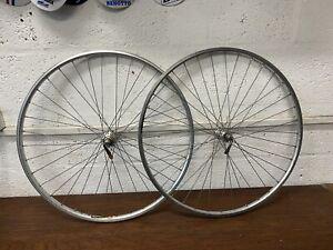 Vintage Wheels Pair Rigida 36 spoke Rims Quando & Joytech Hubs & Skewers