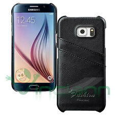 Custodia rigida POCKET Nera per Samsung Galaxy S6 G920F case tasche porta schede