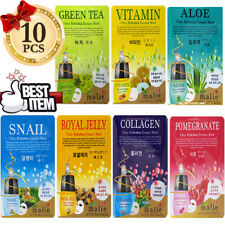 10Pcs Malie Face Mask Pack Sheet Korea Popular Ultra Hydrating Moisture Essence