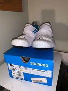 NIB 2019 Shimano TR9W White Women's Carbon Triathlon Bike Shoes - size 9.5