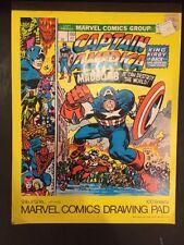 "Captain America~Marvel Comics 9""x12"" Drawing Pad~1976 Mead School Supplies! NOS"