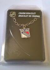 New York Rangers NHL Silver Tone Logo Charm Bracelet