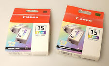 (PRL) CANON 15 COLOR BCI-15 TWIN PACK 2 LOTTO CARTUCCE INCHIOSTRO LOT CARTRIDGES