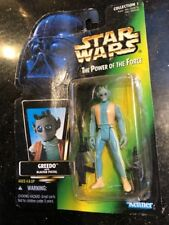 Star Wars Power of the Force Greedo Damaged Card