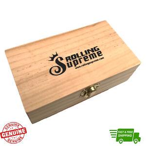 Rolling Supreme Wooden Stash Box King Size Medium Magnetic Smokers Stash Box