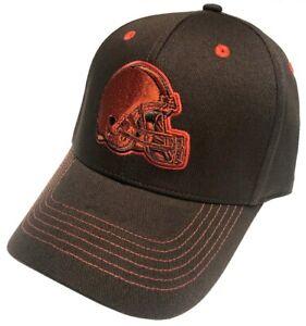 Cleveland Browns NFL Team Apparel Orange Tonal Hat Cap Adult Men's Stretch OSFA