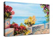 Quadri Moderni cm 100x70 stampa su tela Canvas Quadro Moderno Napoli Mare Fiori