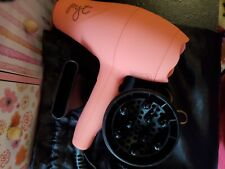 NEW PYT Mini Turbo Travel Size Hair Blow Dryer CORAL w/ Diffuser