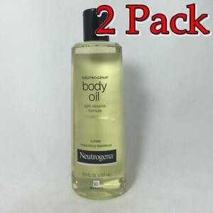 Neutrogena Body Oil, Light Sesame Formula, Original, 8.5oz, 2 Pack 070501618202T