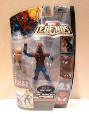 HASBRO MARVEL LEGENDS ARES B.A.F SERIES SCARLETSPIDER(BEN REILLY)W/CROSSBONES LL