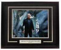 Arnold Schwarzenegger Signed Framed Terminator 11x14 Photo BAS