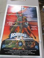 Vintage 1 sheet Movie Poster Robbers Of The Sacred Mountain 1982 John Marley