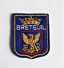 BLASON Brodé Ecusson ville Breteuil - hauteur 6 cm