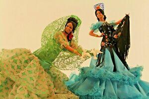 Pair of Vintage Spanish Costume Dolls - Solares & Victoria