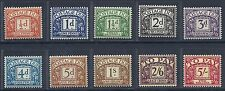 Sg D46 - D55 1955-57 Edward Crown Full set of Postage Dues MOUNTED MINT
