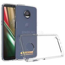 Para Motorola Moto Z3 Funda Protectora De Gel Transparente Delgada Play & Vidrio Protector de pantalla