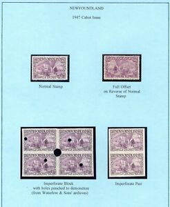 Newfoundland 270 VF NH Cabot mini-collection