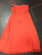 NEXT ORANGE & GOLD FLOATY EGYPTIAN STYLE ONE SHOULDER STRAP DRESS SIZE 8 NEW £50