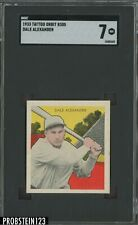 1933 TATTOO ORBIT DALE ALEXANDER Boston RED SOX SGC 7