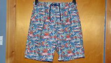 "M&S PartElasticated Waist Cactus Print Swim Board Shorts XL W39-41"" NavyMix BNWT"
