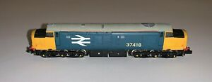 Graham Farish (8035) Class 37 Re-Numbered '37418' in BR Blue & Yellow