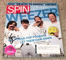 WEEZER BRIAN BELL & SCOTT SHRINER SIGNED AUTOGRAPH SPIN MAGAZINE w/PROOF