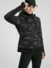 ATHLETA XSP Triumph Printed Hoodie Sweatshirt XS Petite Camo Workout Jacket