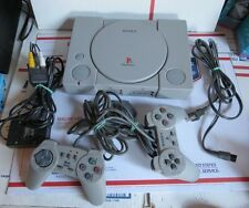 Sony Playstation PS1 with Two Remotes and Cords Bundle Working SCPH-5501