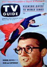 TV Guide 1953 Superman George Reeves V1N26 Burns & Allen Joe DiMaggio VTG COA