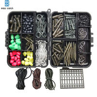 258pcs/box Carp Fishing Tackle With Swivels/Hooks/Sleeves/Rubbers Tubes kit
